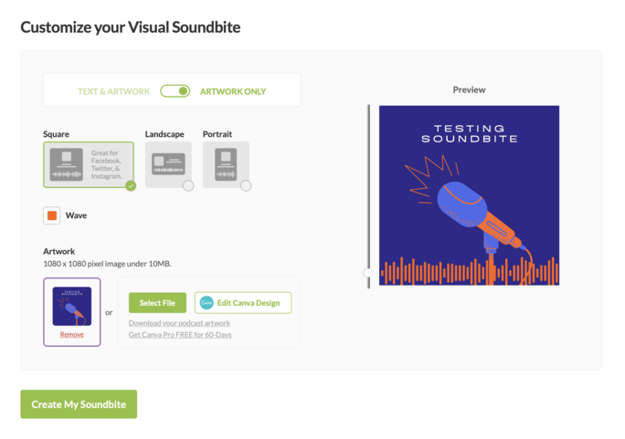 Custom Artwork for Visual Soundbites