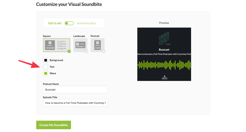 Buzzsprout Soundbite Editor