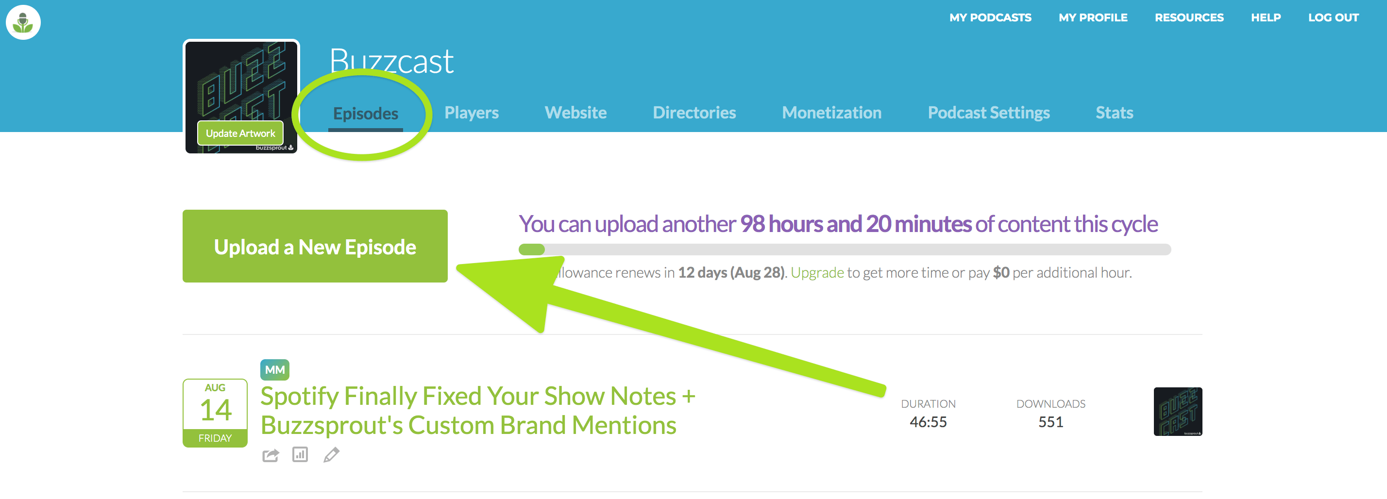 Publish your podcast on Buzzsprout