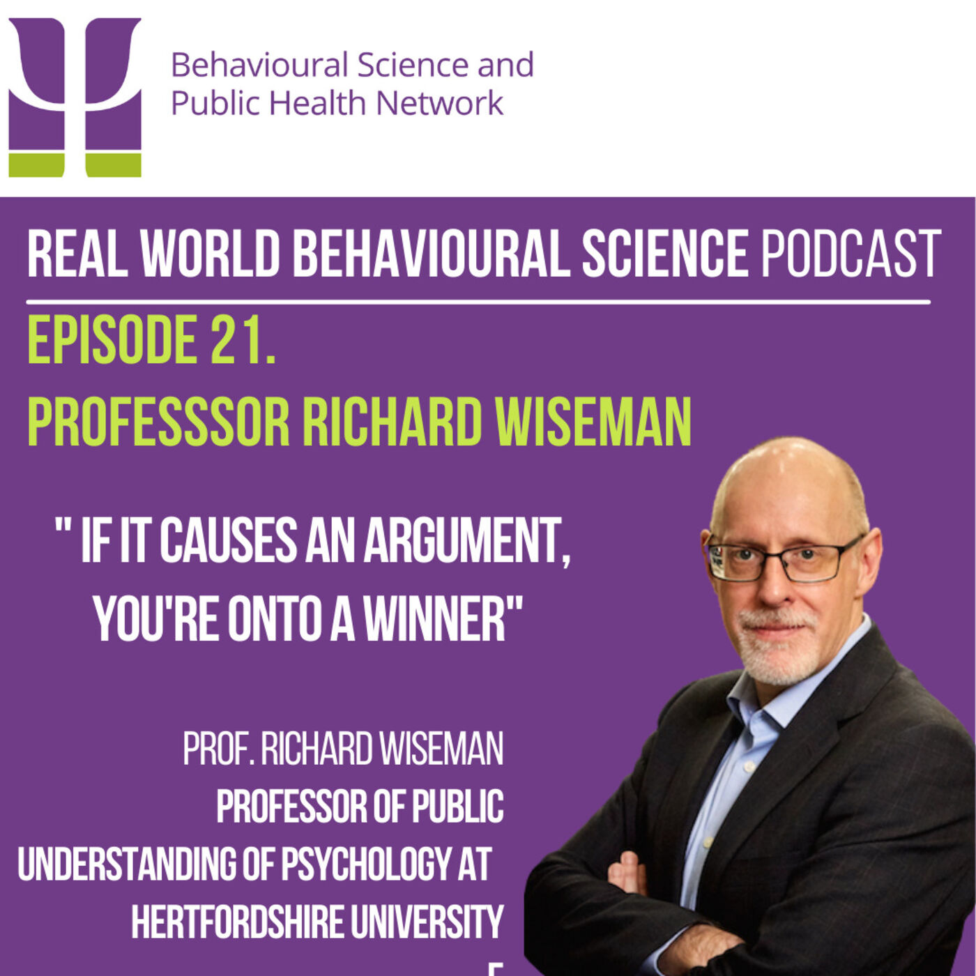 20. Richard Wiseman (Professor of Public Understanding of Psychology at the University of Hertfordshire)