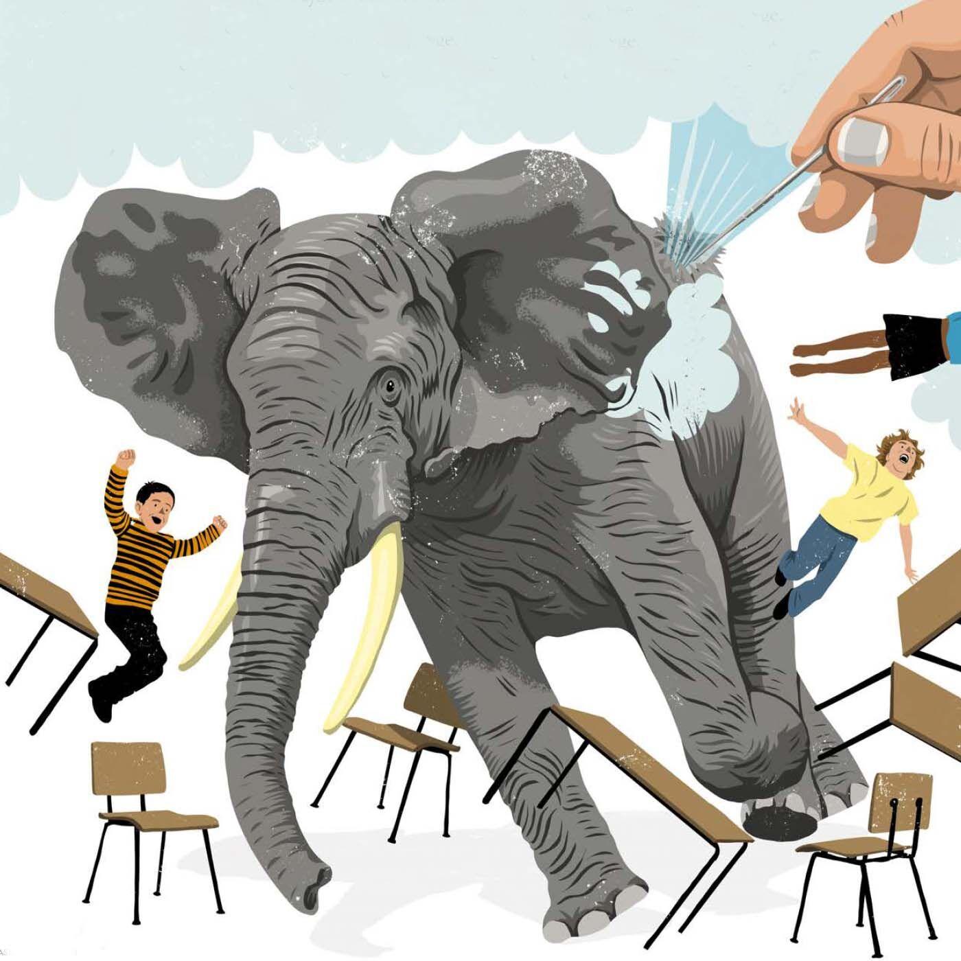 Når elefanten i rummet punkterer