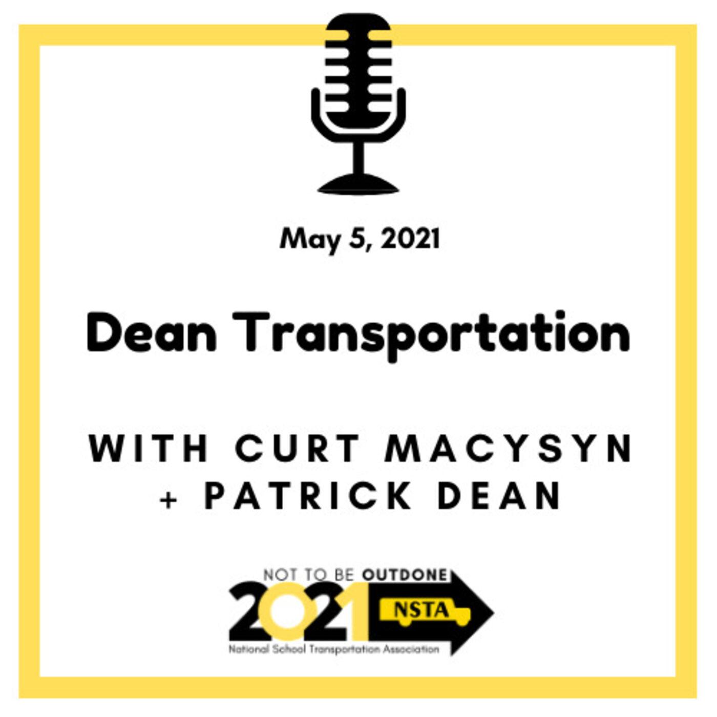 Dean Transportation | Patrick Dean,Vice President, Chair of NSTA Strategic Business Plan