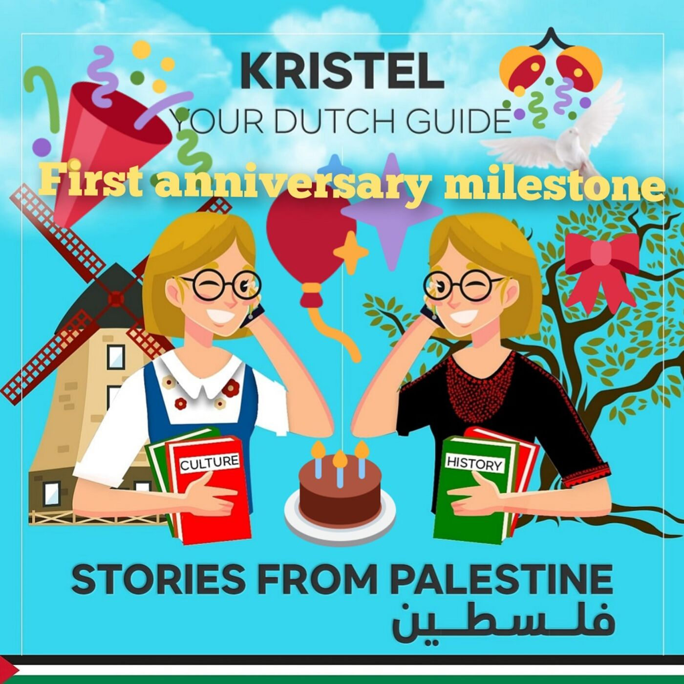 Celebration of the first anniversary of Stories from Palestine Podcast