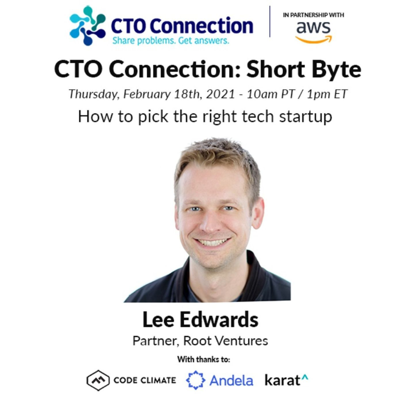 Short Byte: Lee Edwards - How to pick the right tech startup