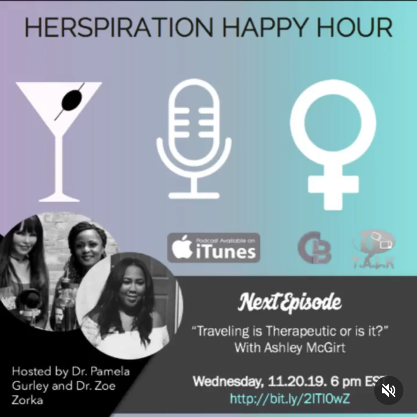 Herspiration Happy Hour Episode 36 (Season Two): Traveling is Therapy...or is it?