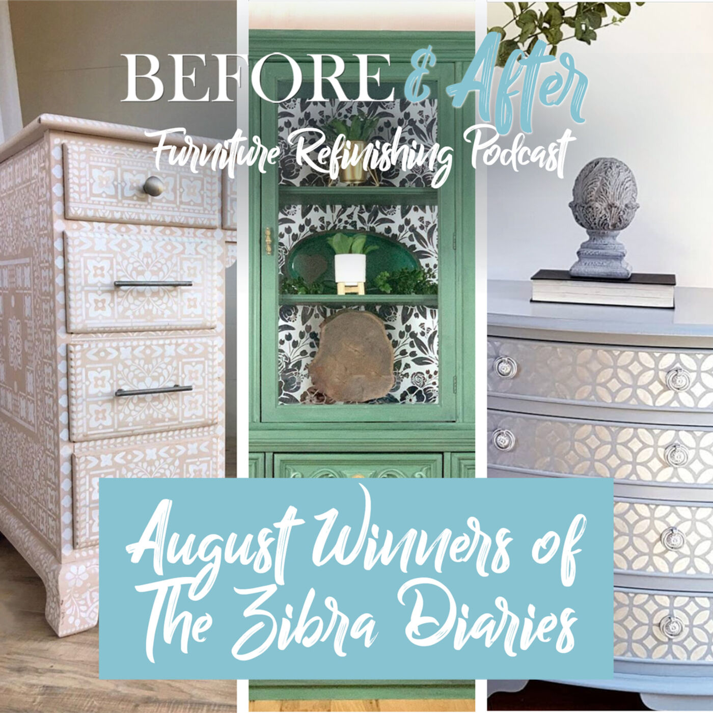 Learn more about stenciling as The Zibra Diaries August winners chat about their winning pieces.