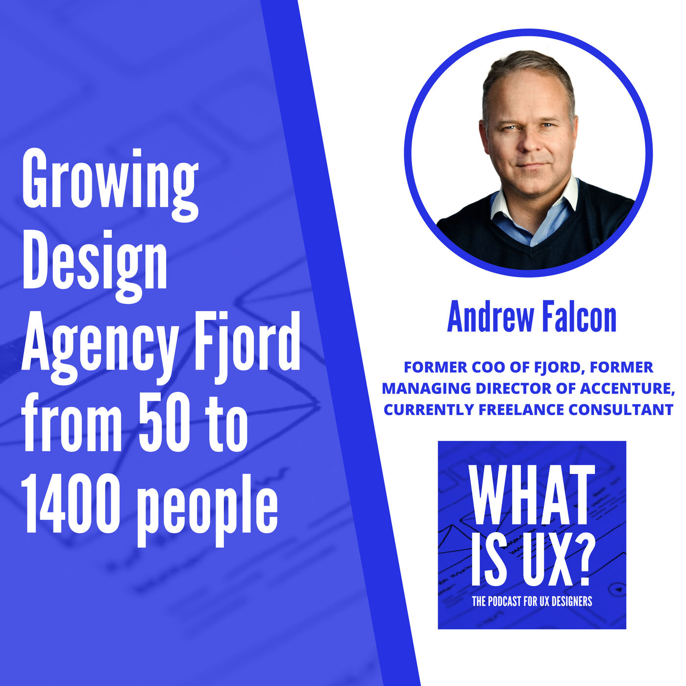 S1E2 Growing Design Agency Fjord from 50 to 1400 people with Andrew Falcon