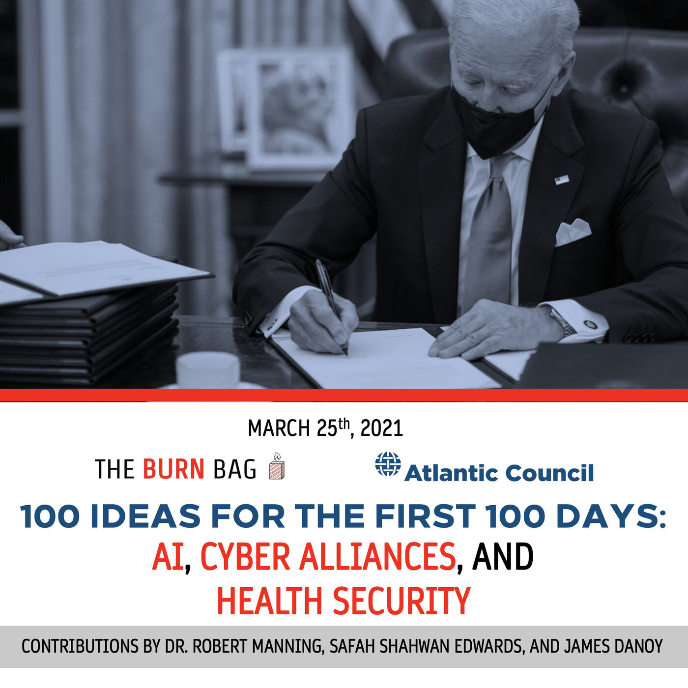 100 Ideas for the First 100 Days: AI, Cyber Alliances, and Health Security