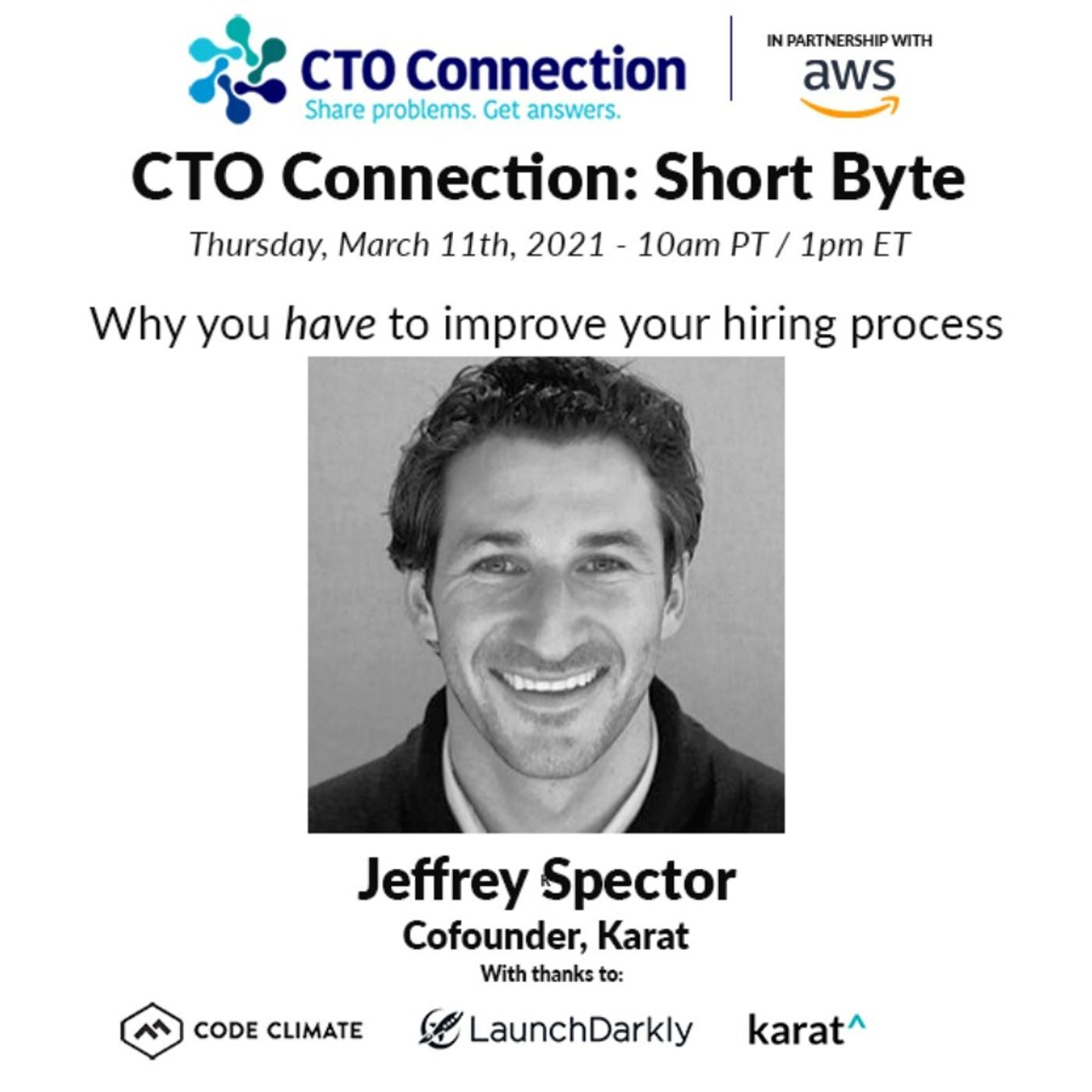 Short Byte: Jeffrey Spector - Why you have to improve your hiring process