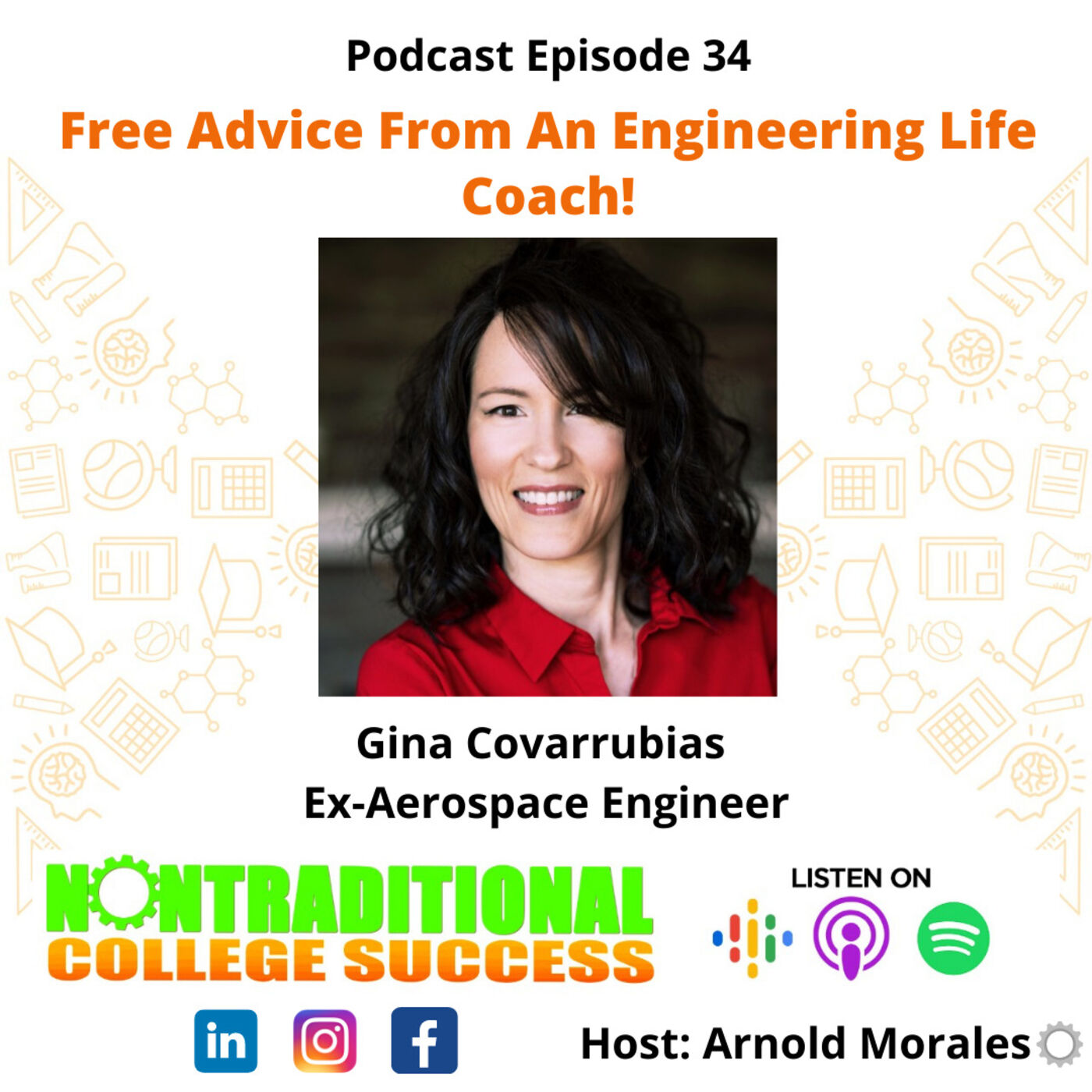 Free Advice From An Engineering Life Coach! with Gina Covarrubias. Ep. 34