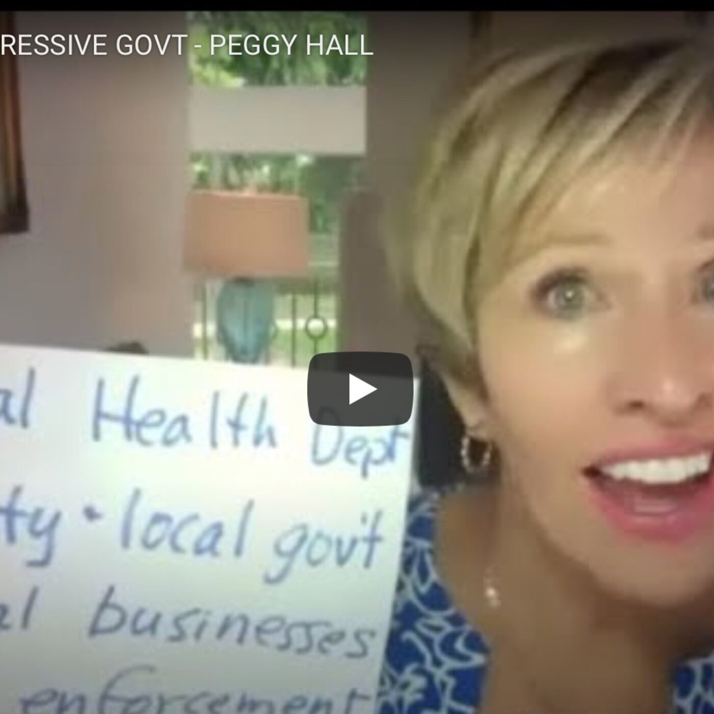 """Peggy Hall on Unlawful Government """"Orders"""""""