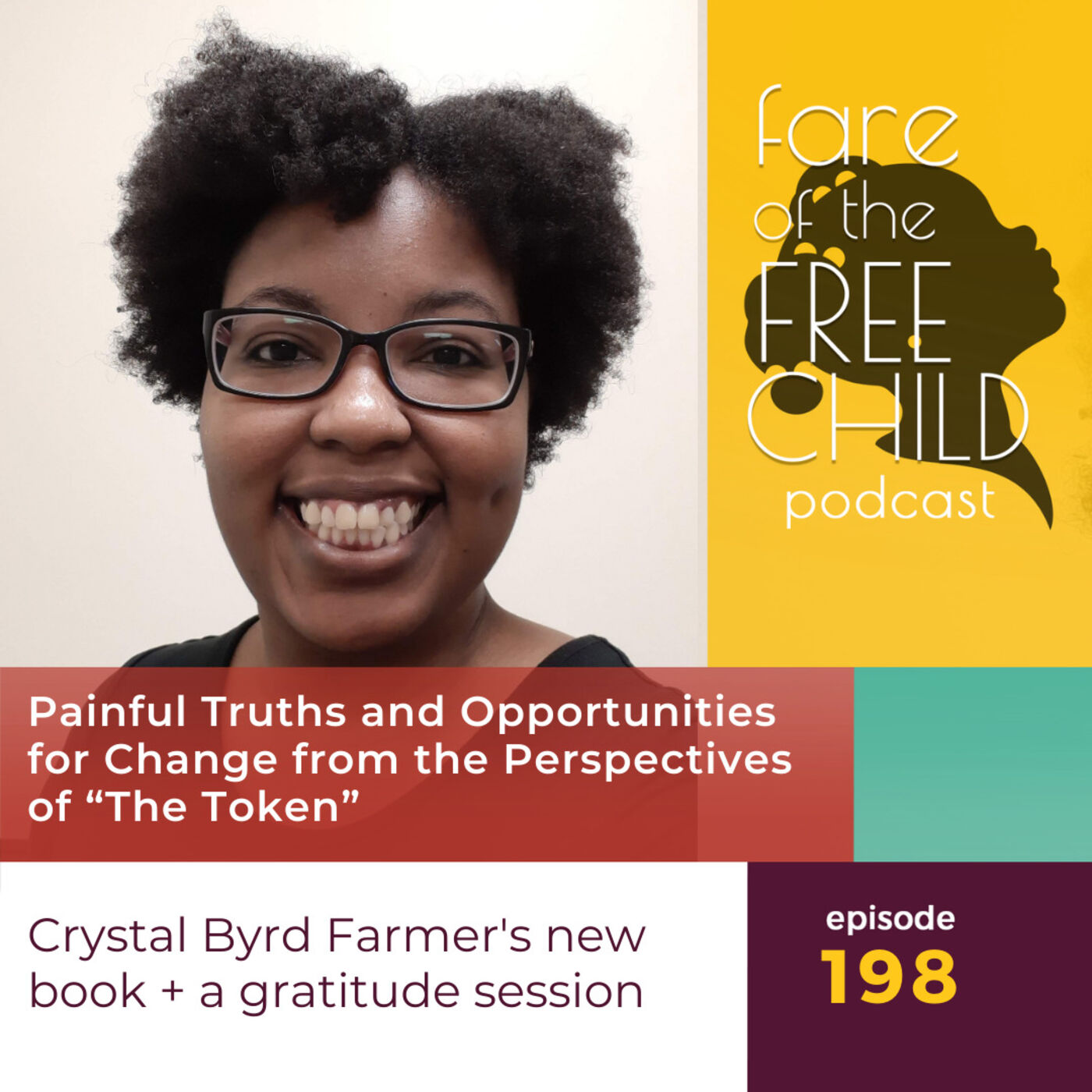 """Ep 198: Painful Truths and Opportunities for Change from the Perspectives of """"The Token"""" Crystal Byrd Farmer's new book + a gratitude session"""