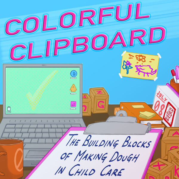 Colorful Clipboard Podcast Artwork Image