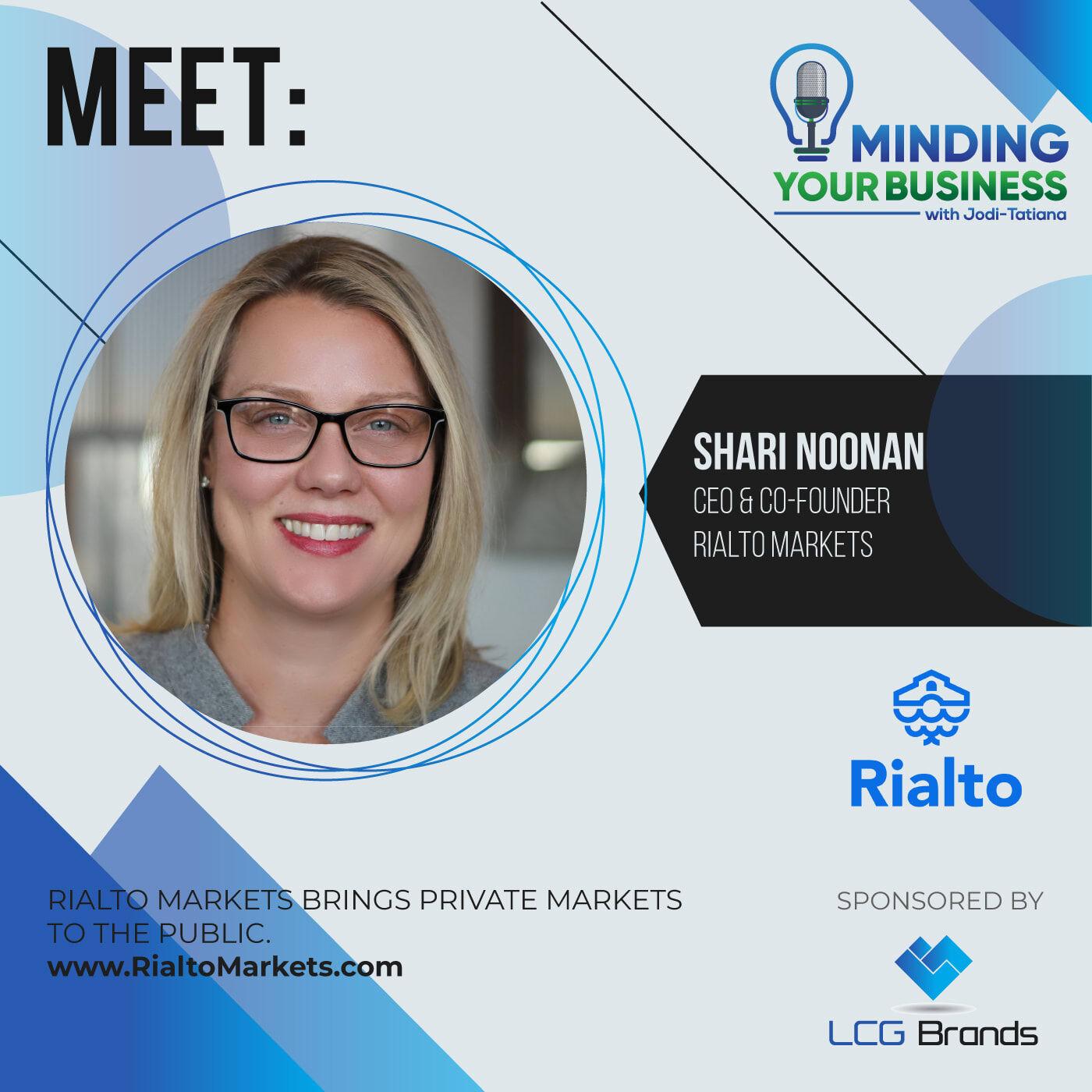 Episode 120: Meet Rialto Markets ceo, Shari Noonan (NY-USA)