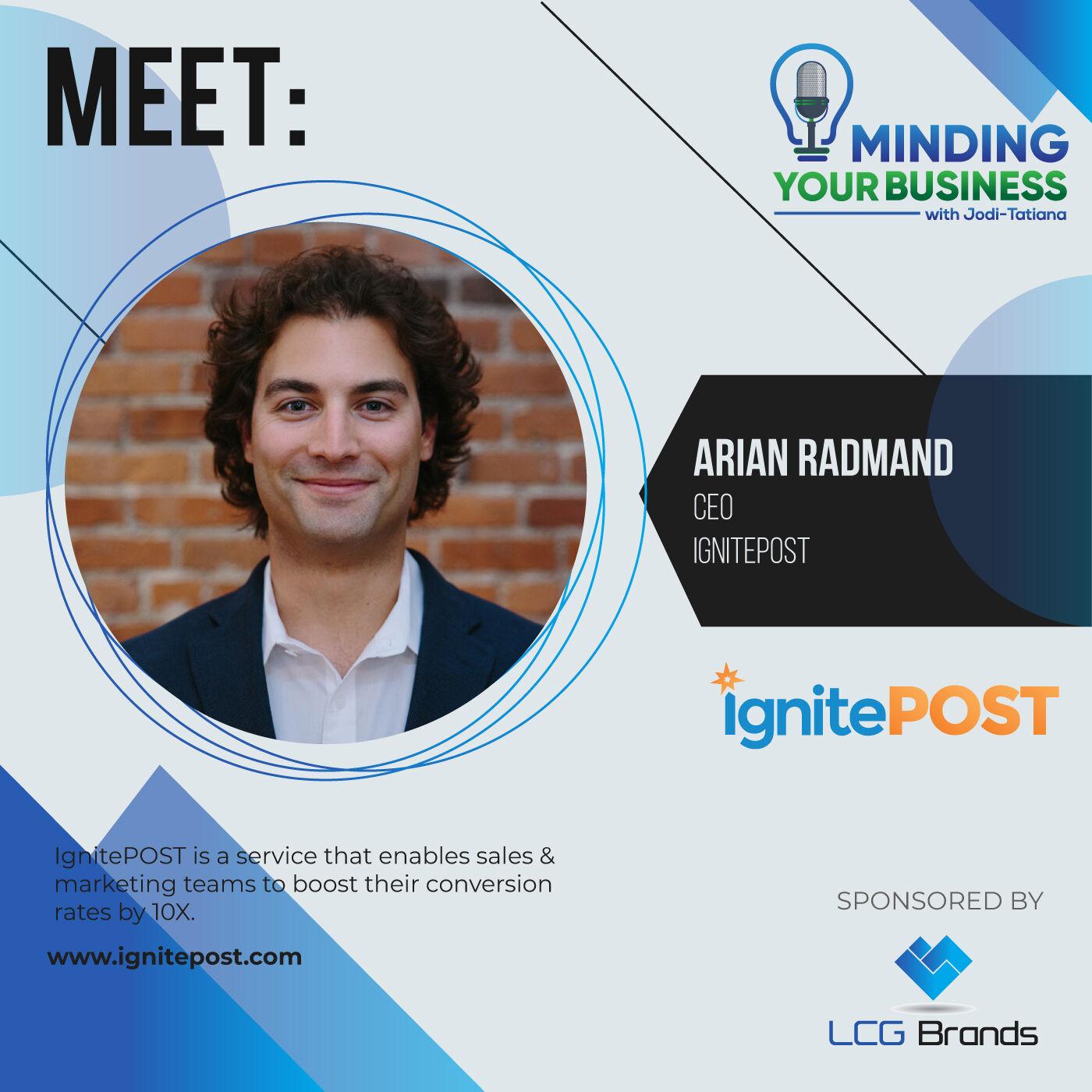 Episode 111: Meet IgnitePOST ceo, Arian Radmand (MA-USA)