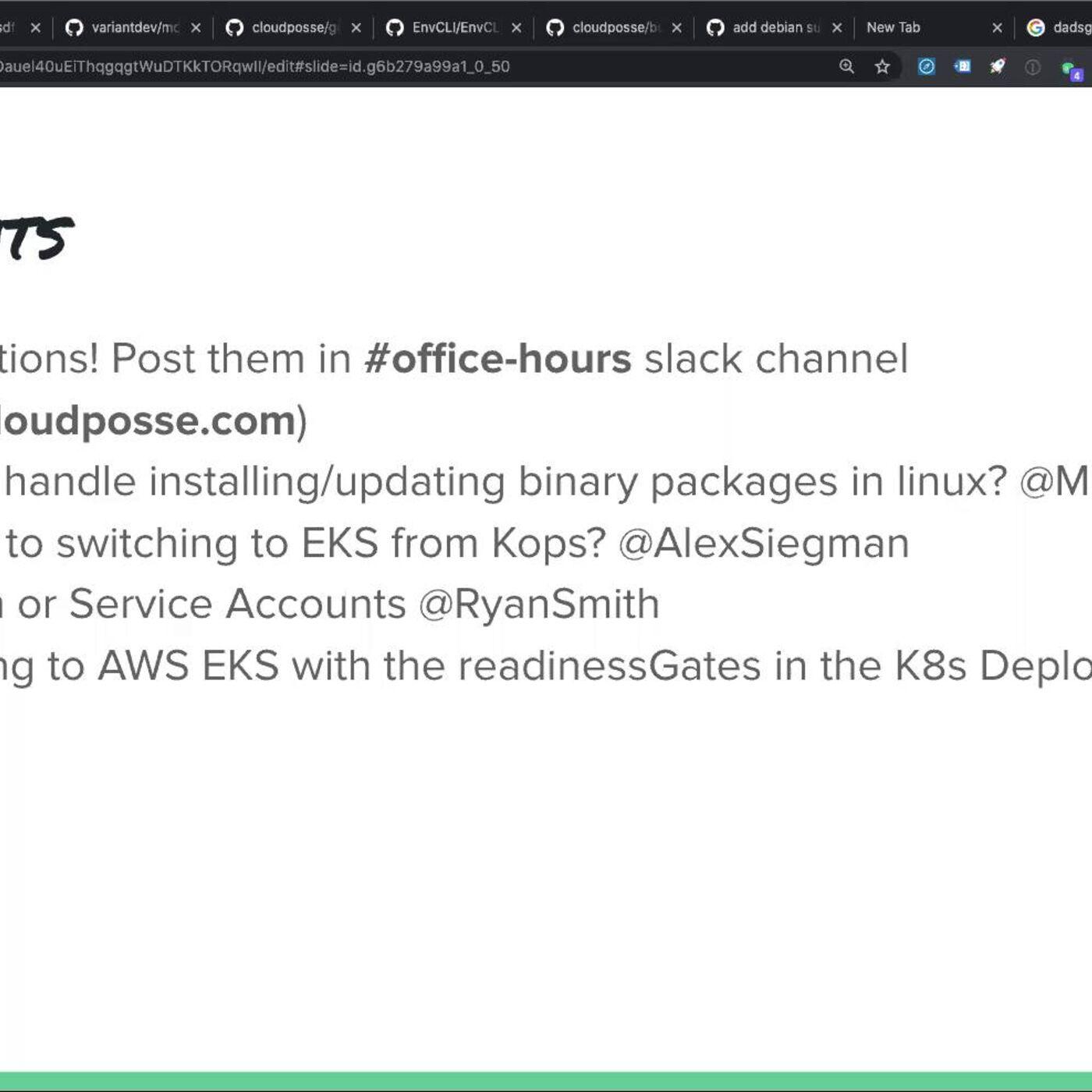 """Cloud Posse DevOps """"Office Hours"""" (2020-07-22)"""