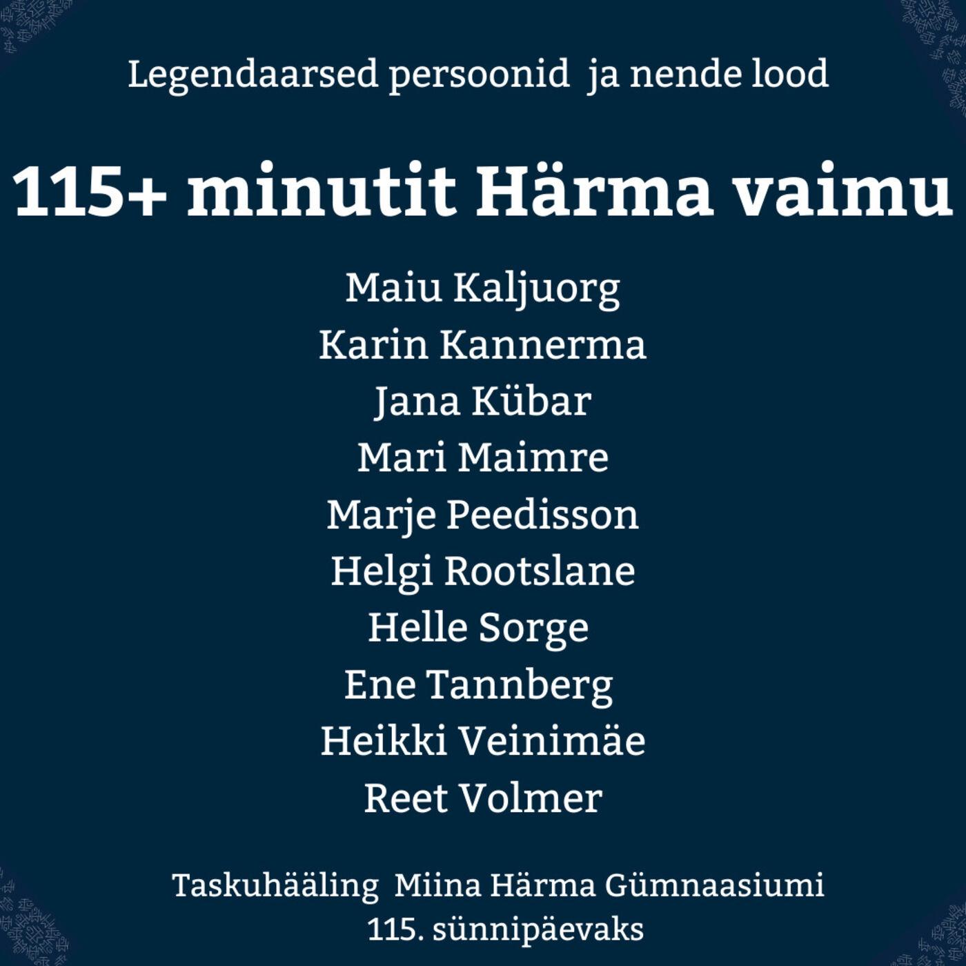 #erisaade: 115+ minutit Härma vaimu