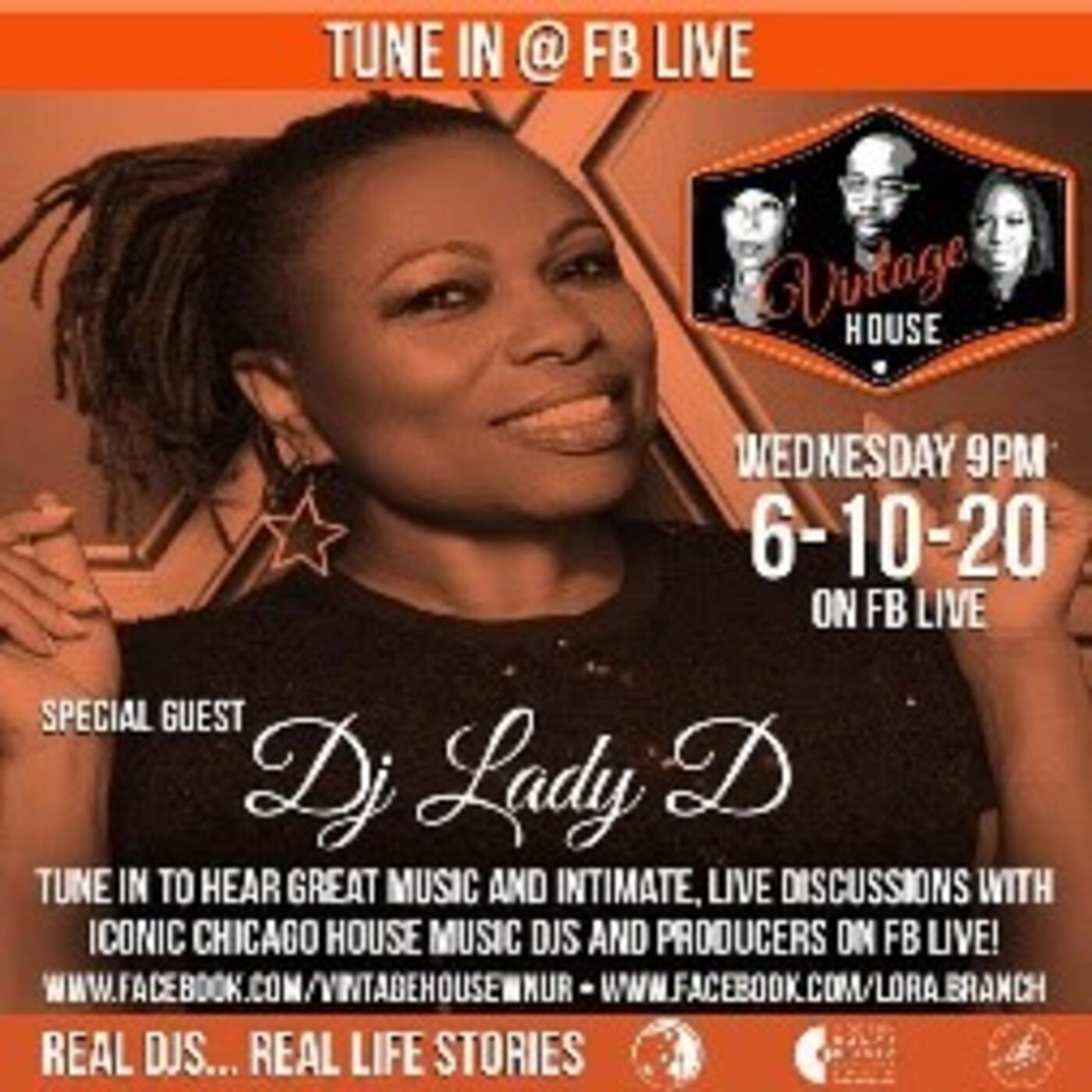 DJ Lady D joins the Vintage House Show Crew and DJ Lori Branch Summer 2020