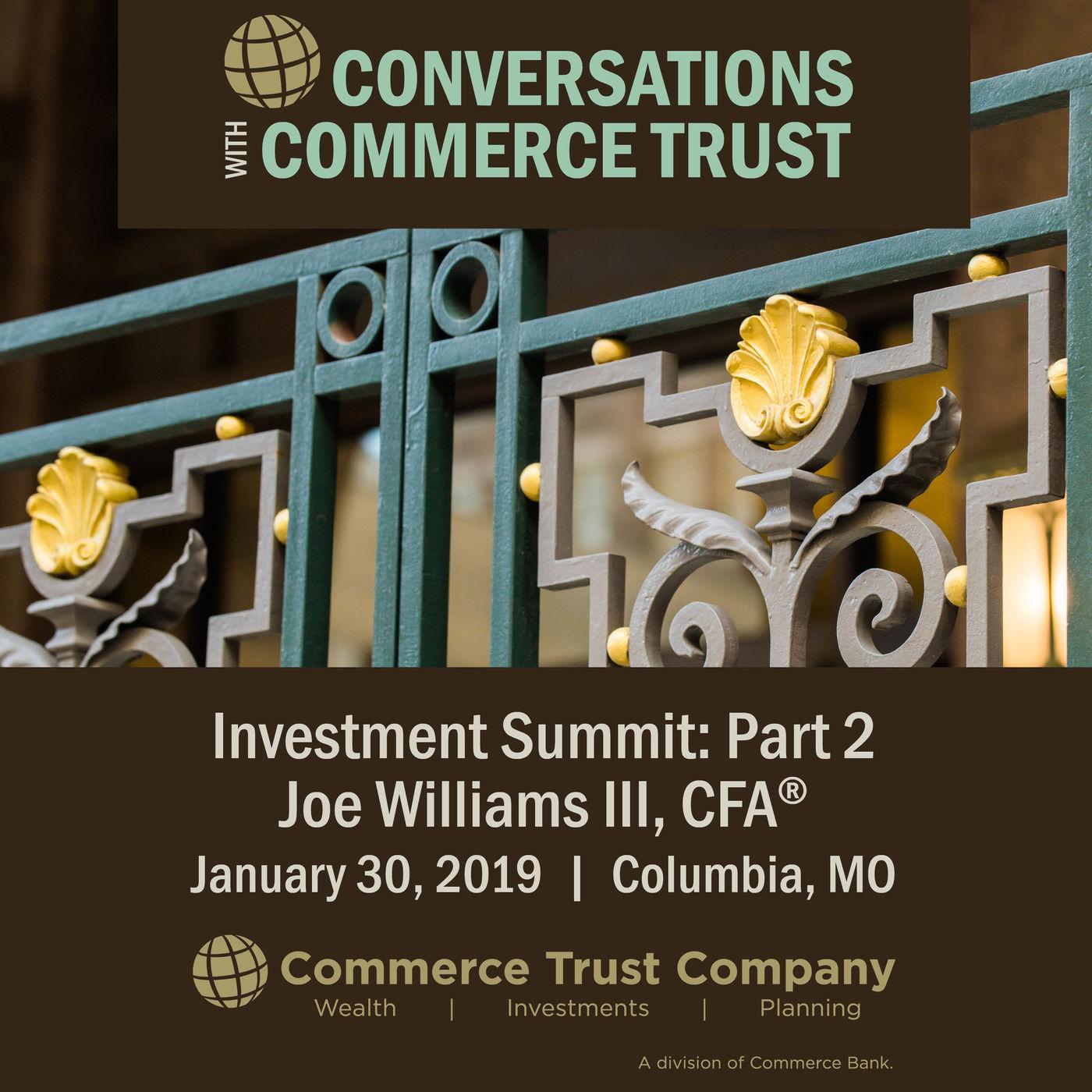 2019 Investment Summit - Joe Williams