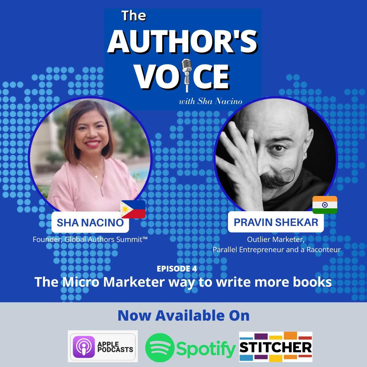 TAV 004: The Micro Marketer Way to Write More Books with Pravin Shekar