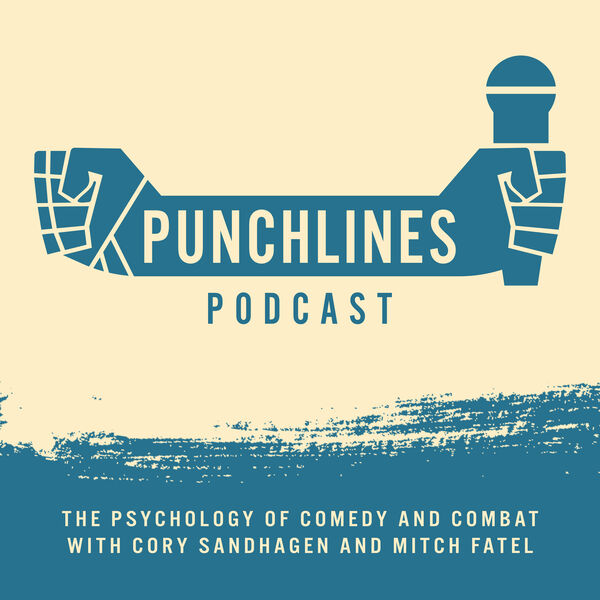 Punchlines Podcast: The Psychology of Comedy And Combat. Podcast Artwork Image