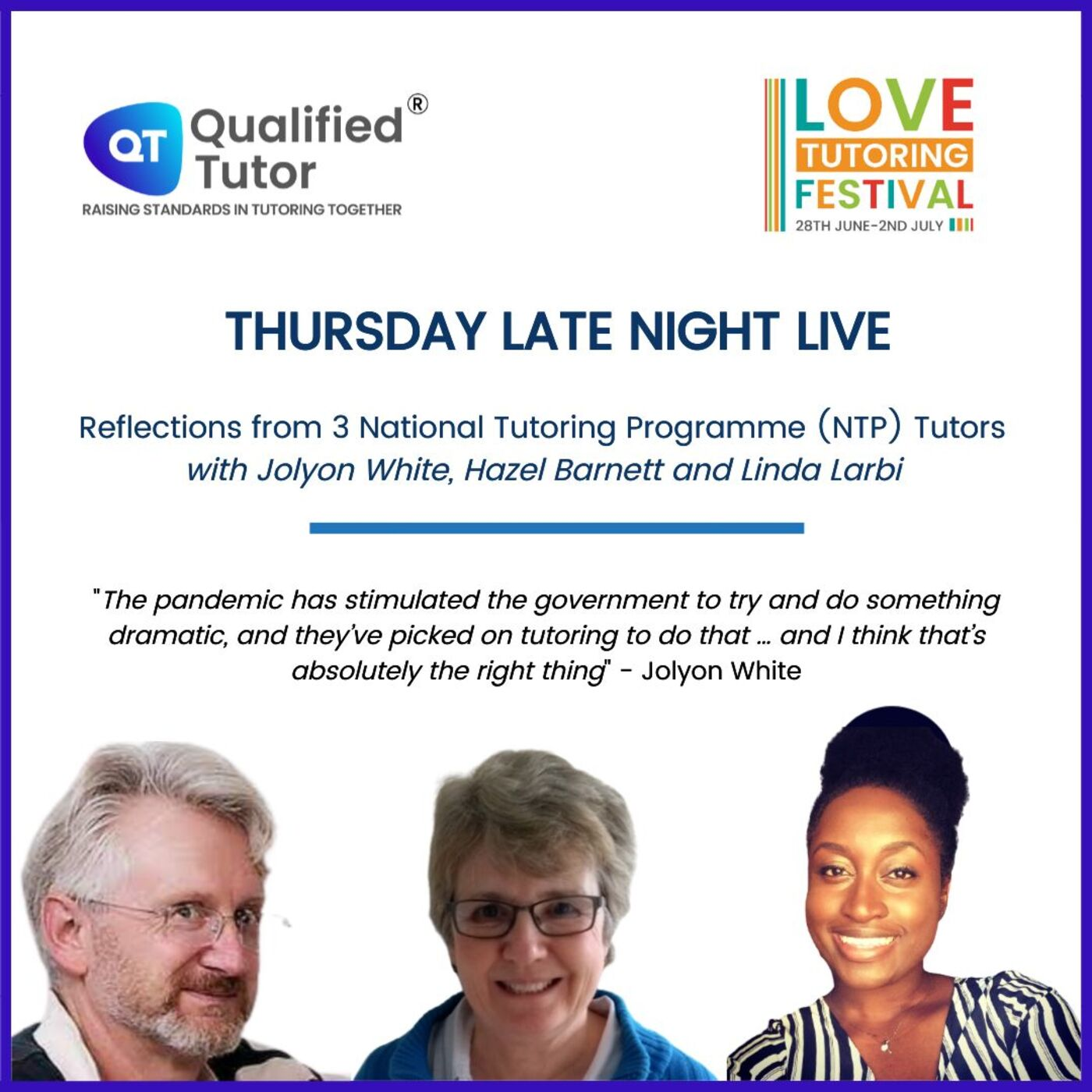 Love Tutoring Festival 2021 Podcast #4 - Reflections from 3 National Tutoring Programme (NTP) Tutors