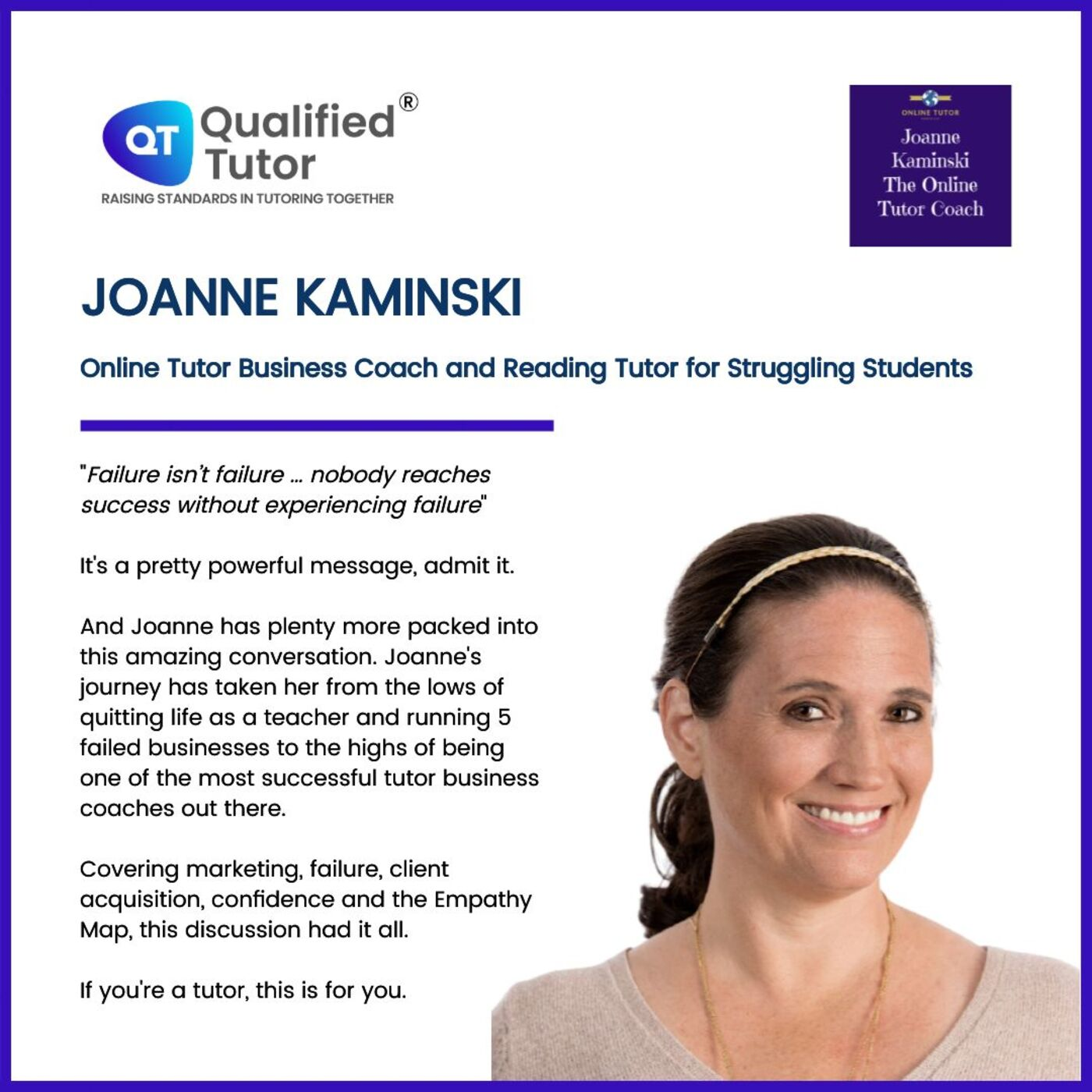 Success in Tutoring with Joanne Kaminski: How to Find What Parents and Students are Looking For