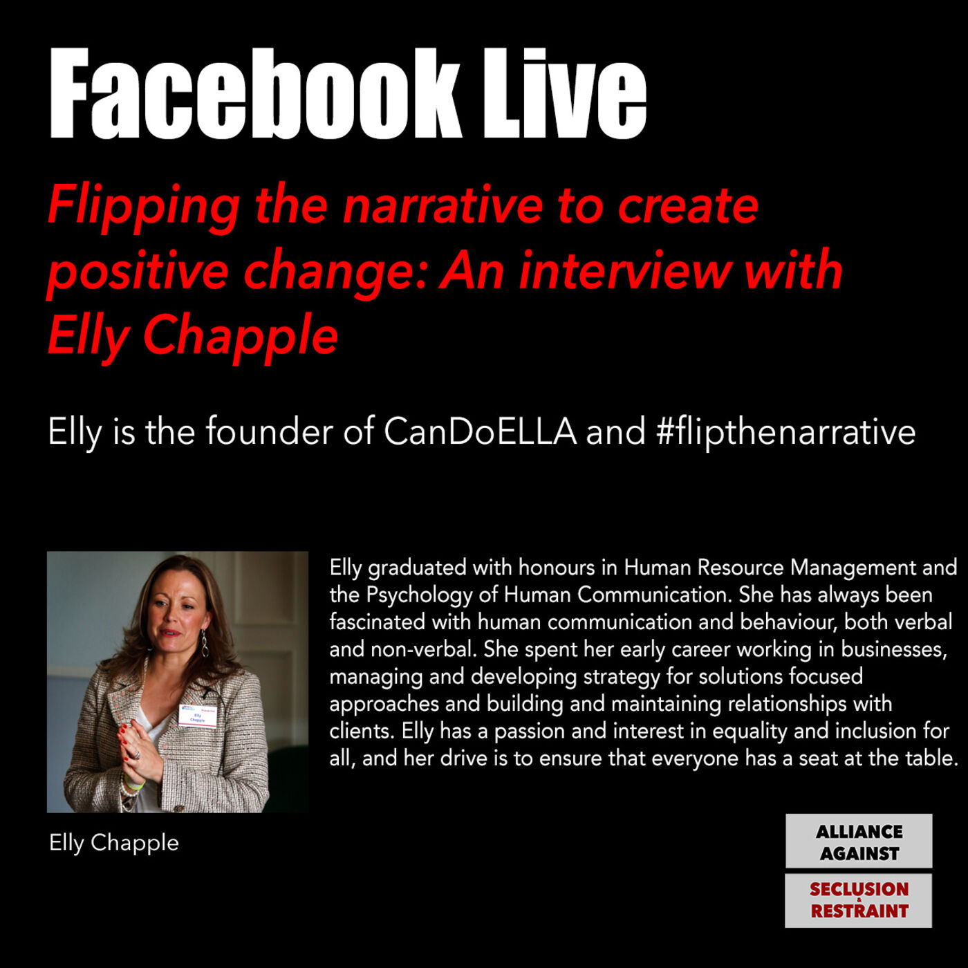 Flipping the narrative to create positive change: An interview with Elly Chapple
