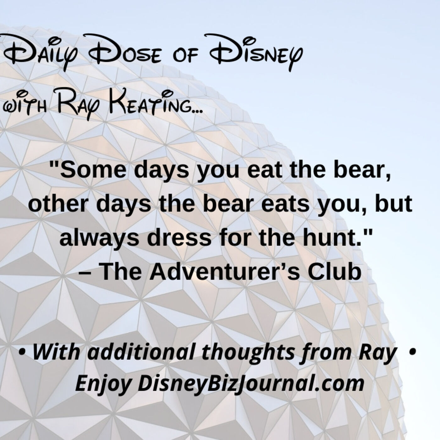 Episode #59: The Adventurers Club, Bears and How to Dress