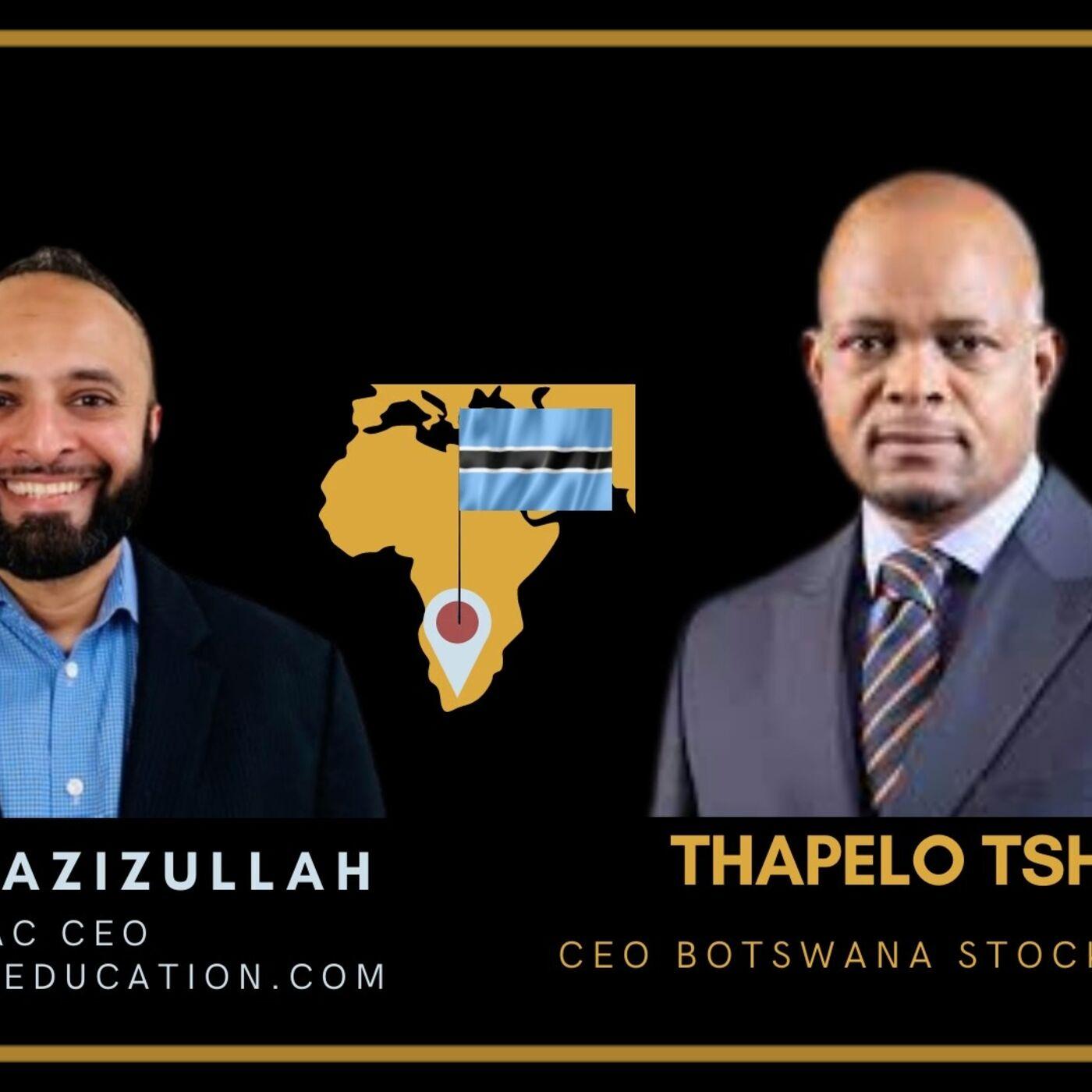 Yusuf Azizullah GBAC Boardroomeducation.com CEO and Botswana Stock Exchange CEO Thapelo Tsheole