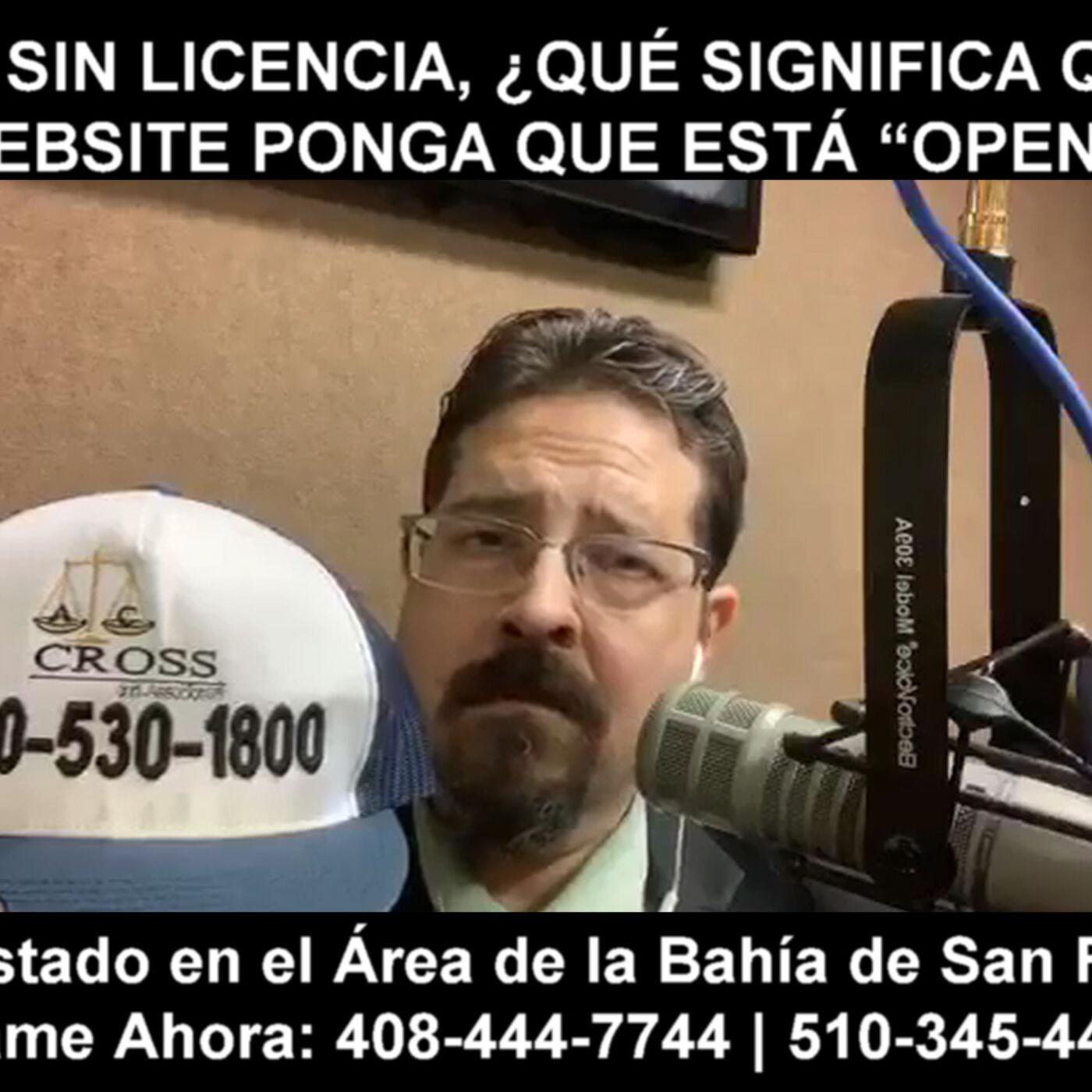"""Manejar sin licencia, ¿qué significa que en el website ponga que está """"Open""""?"""