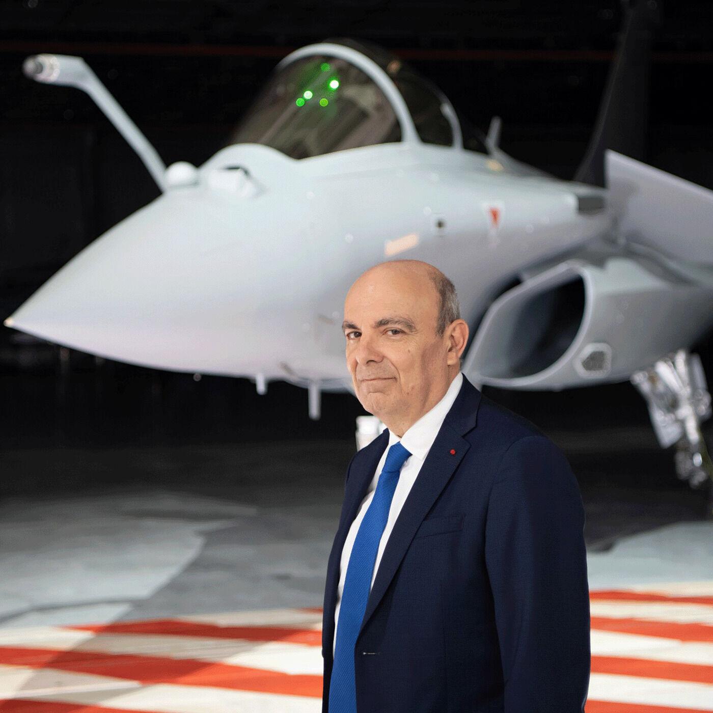 1/2 Entretien avec Eric Trappier, président directeur général de Dassault Aviation et président du GIFAS.