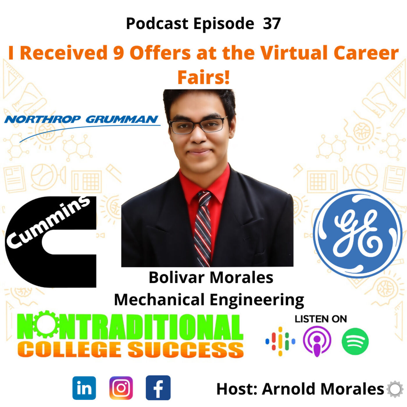 I Received 9 Offers at the Virtual Career Fairs! with Bolivar Morales. Ep. 37