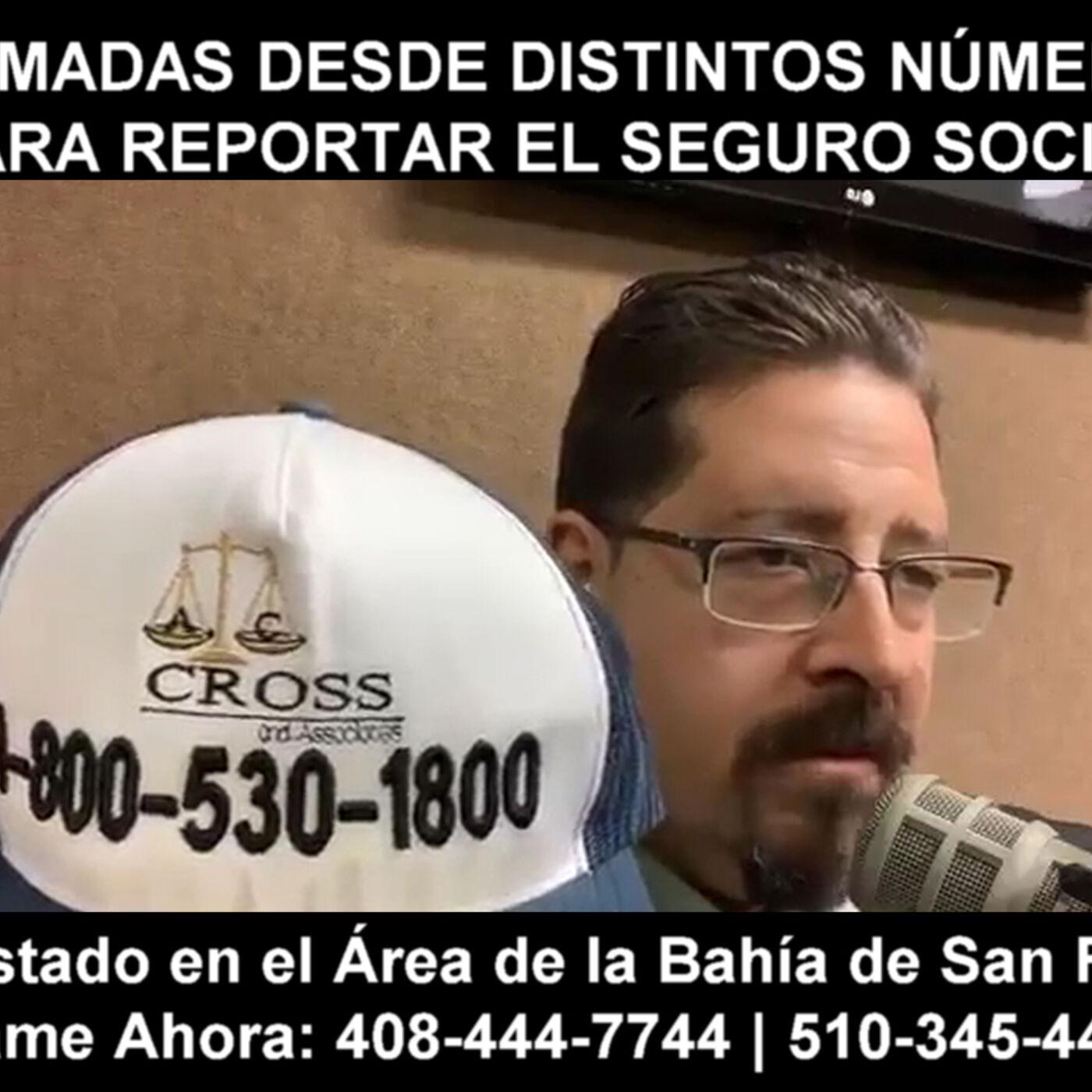 Llamadas desde distintos números para reportar el seguro social