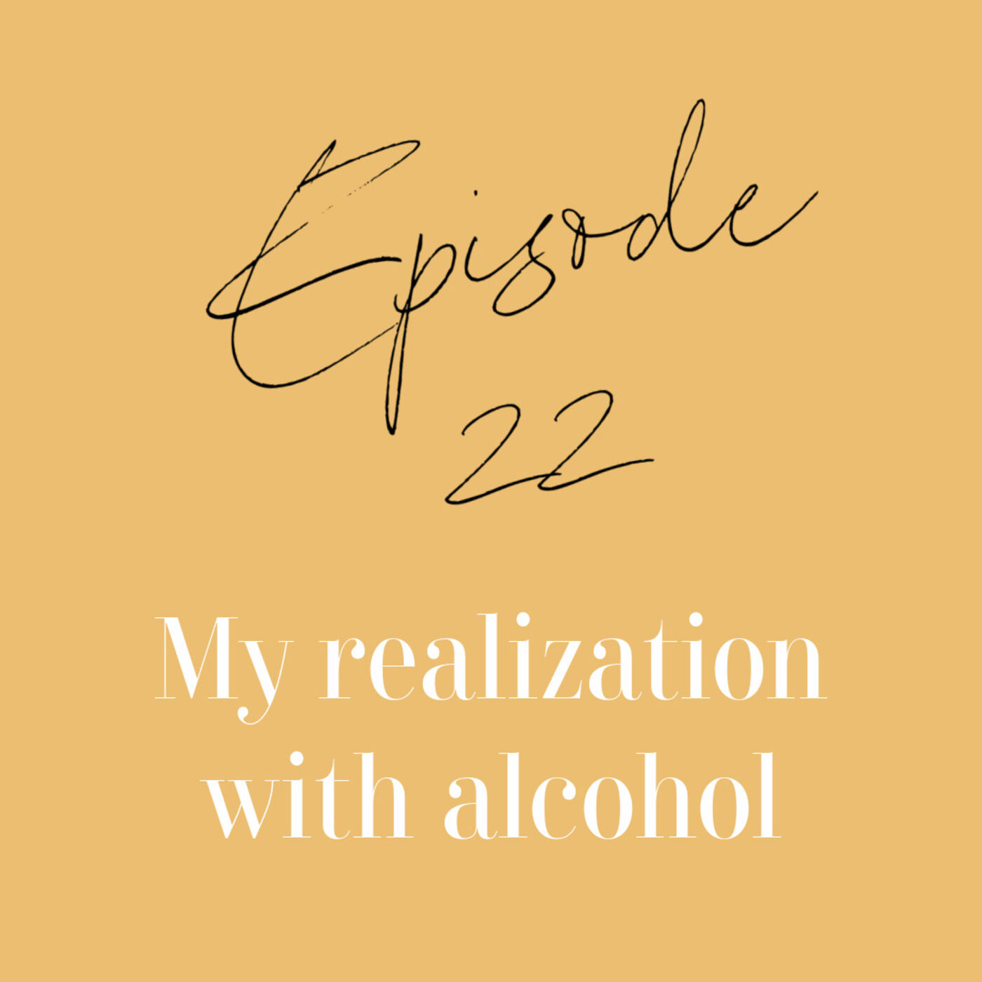 Episode 22: My realization With Alcohol.