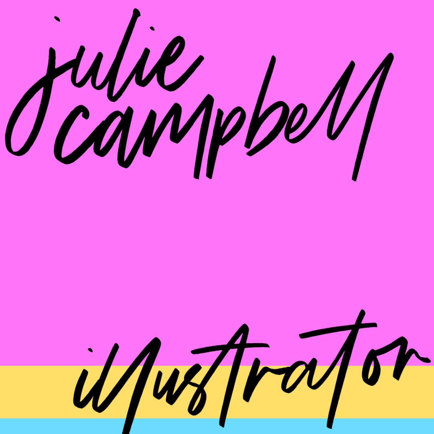 """#64: Illustrator: Julie Campbell: """"I'm trying but it's not cute yet"""""""
