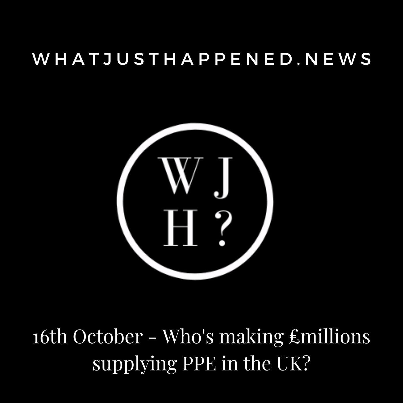 Bonus: The WJH take on Covid in the UK (16th October)