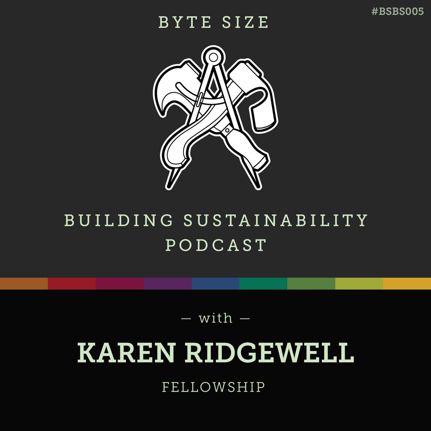 ByteSize - Fellowship within sustainability  - Karen Ridgewell - BSBS005