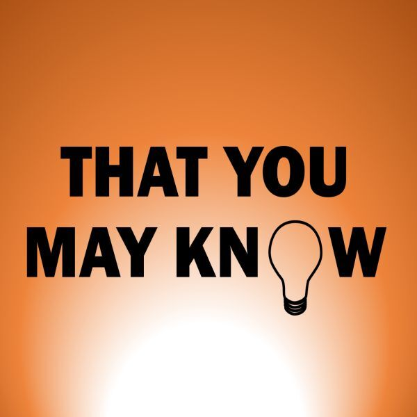 That You May Know Podcast Artwork Image