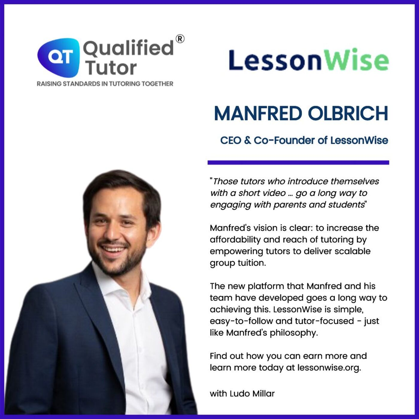 Manfred Olbrich's LessonWise: A New All-in-One Platform for Tutors and Students
