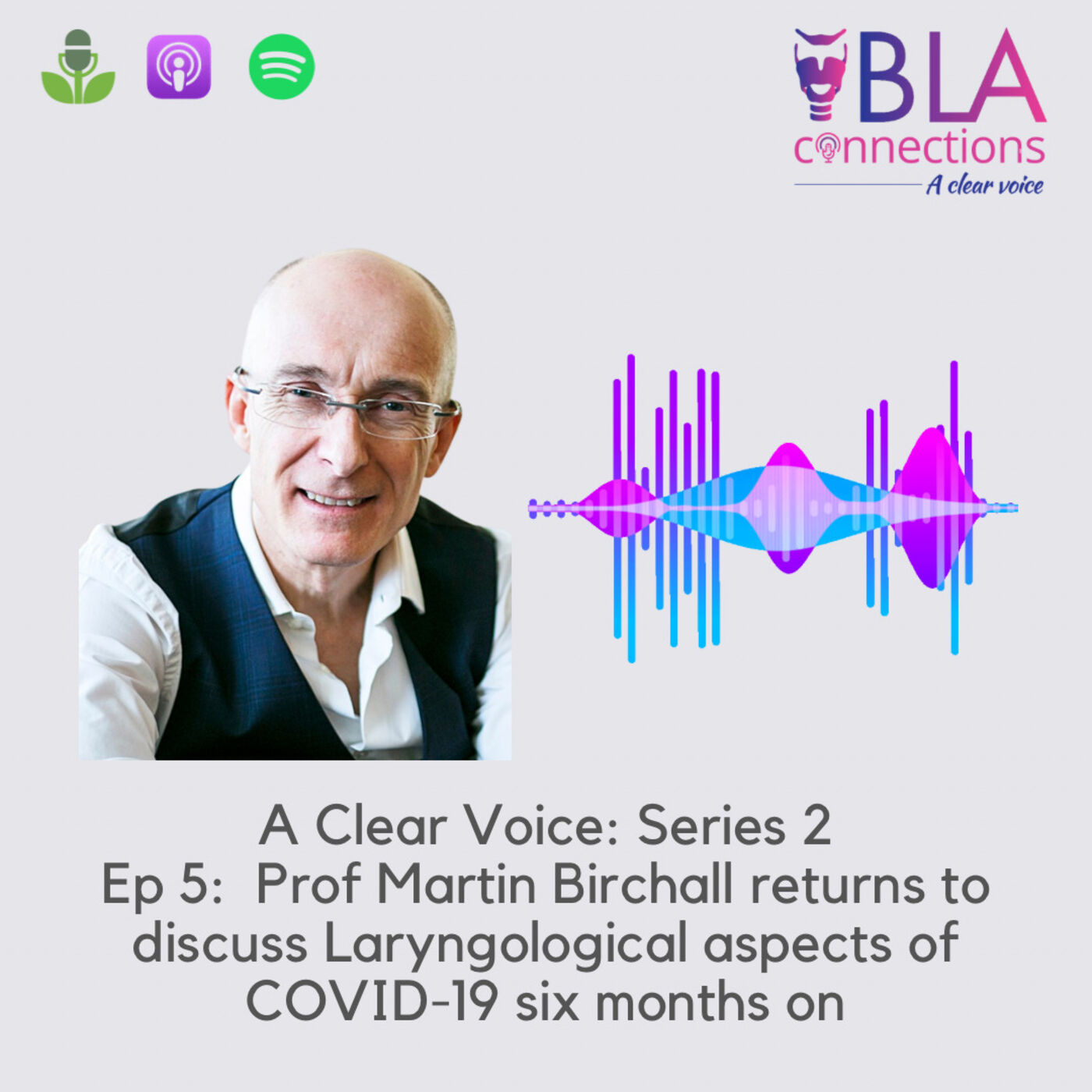 S2 Ep 5: Prof Martin Birchall returns to discuss Laryngological aspects of COVID-19 six months on