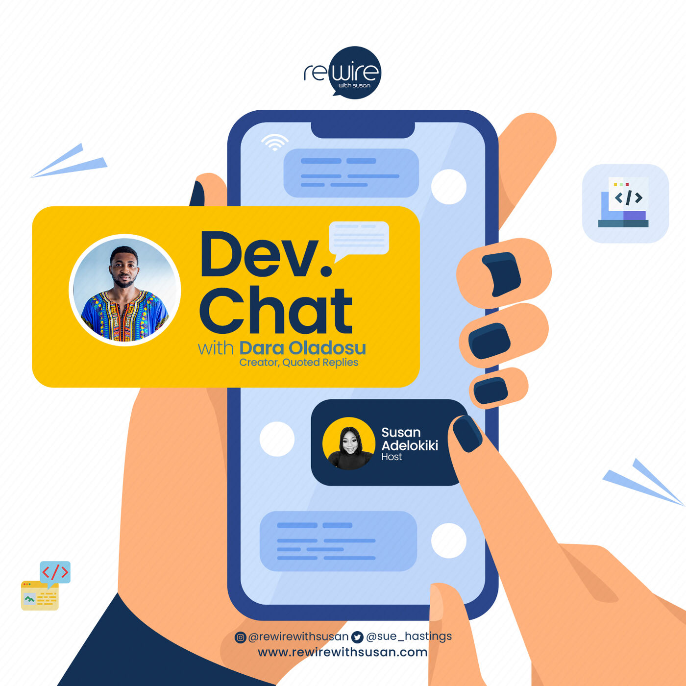 Dev. Chat with Dara Oladosu(Creator, Quoted Replies)
