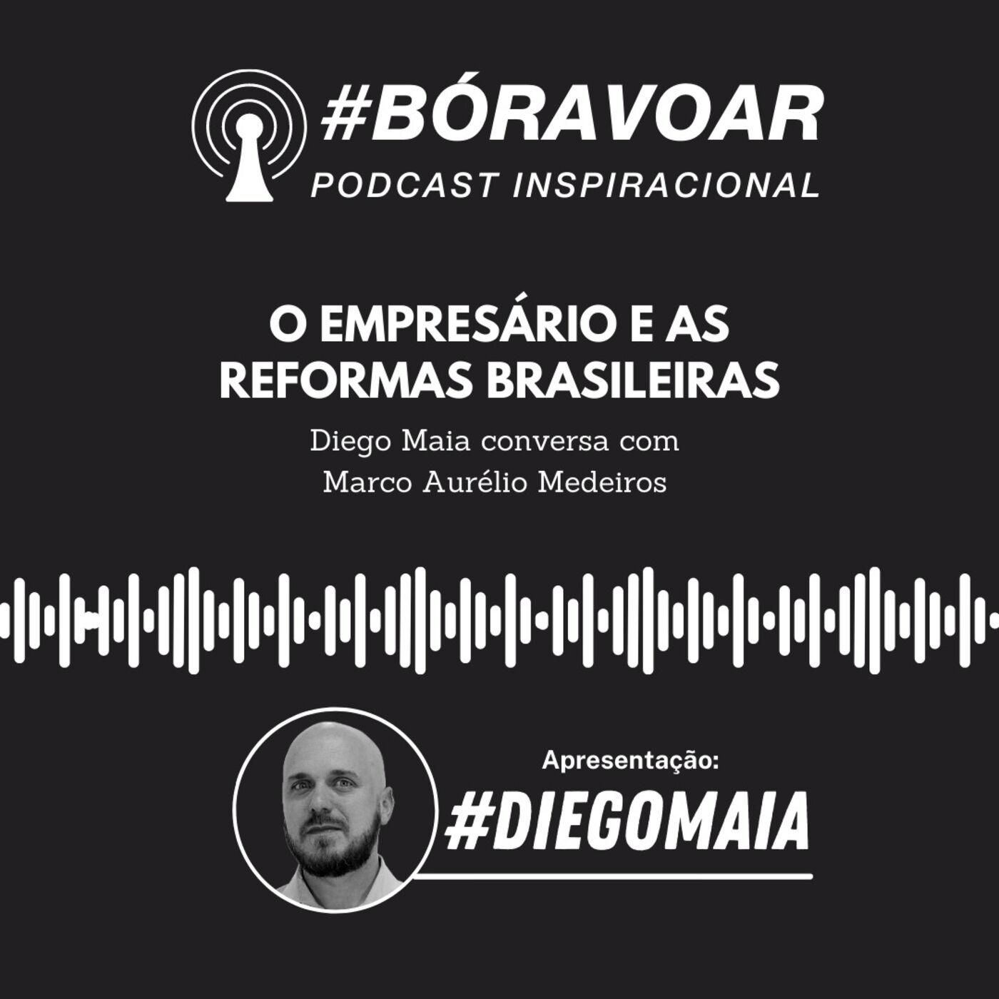 Os impactos das Reformas e as sequelas da pandemia na vida empresarial brasileira | Diego Maia conversa com Marco Aurelio Medeiros