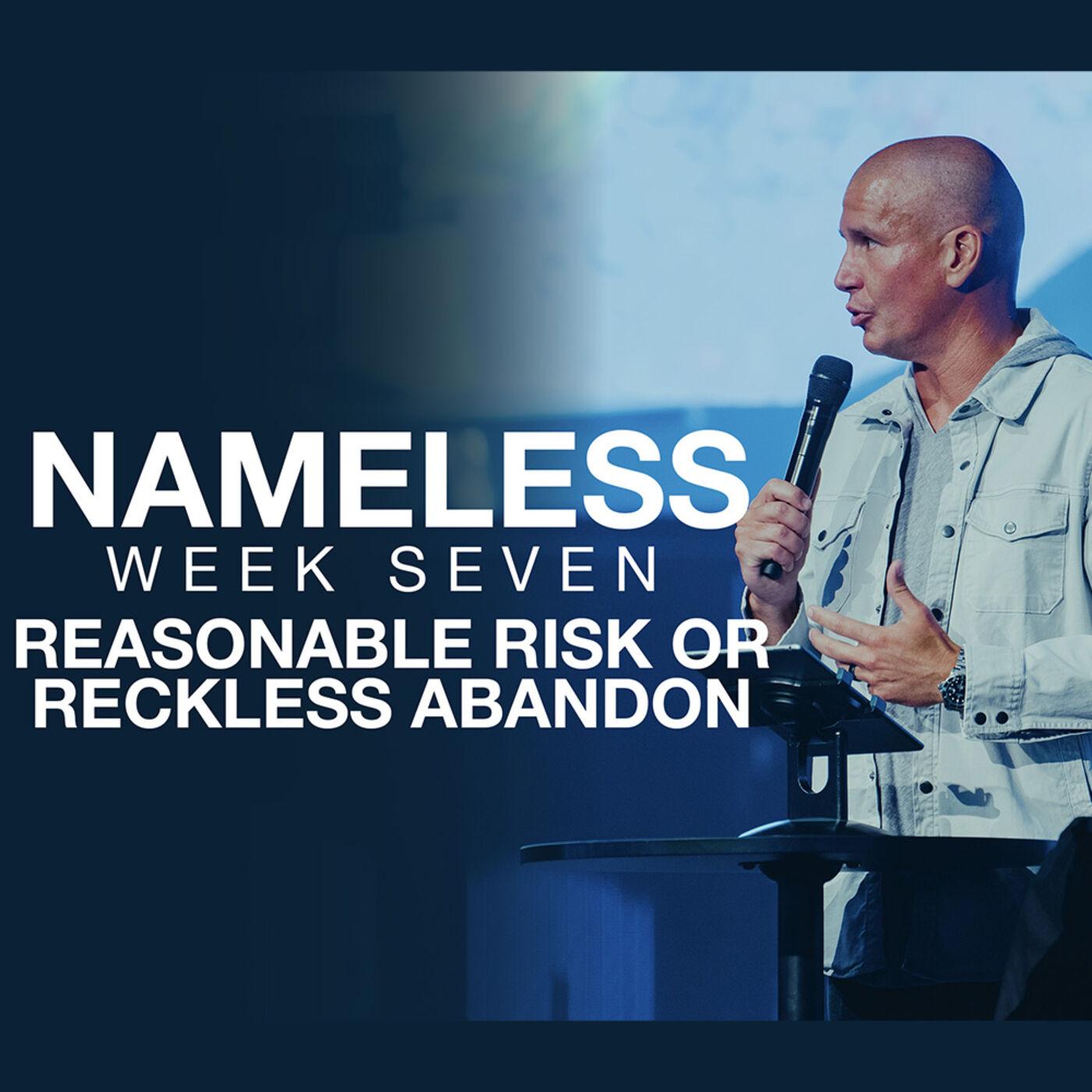 Nameless // Week Seven - Reasonable Risk orReckless Abandon