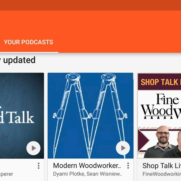 Modern Woodworkers Association Podcast - Conversations Among Woodworkers Podcast Artwork Image