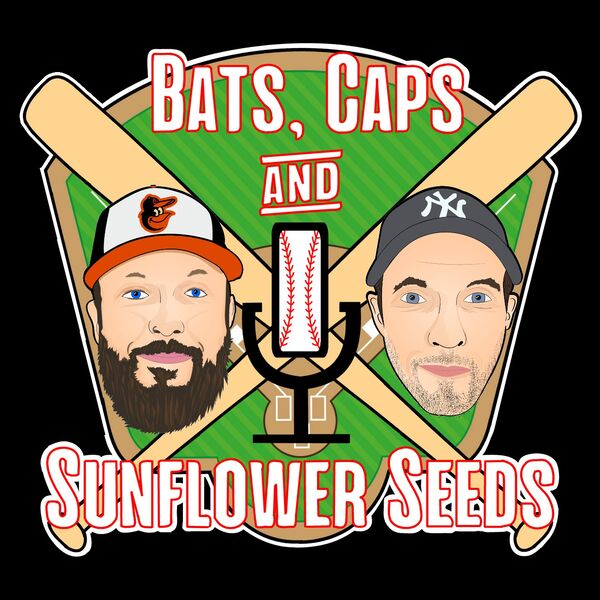 Bats, Caps and Sunflower Seeds. Podcast Artwork Image