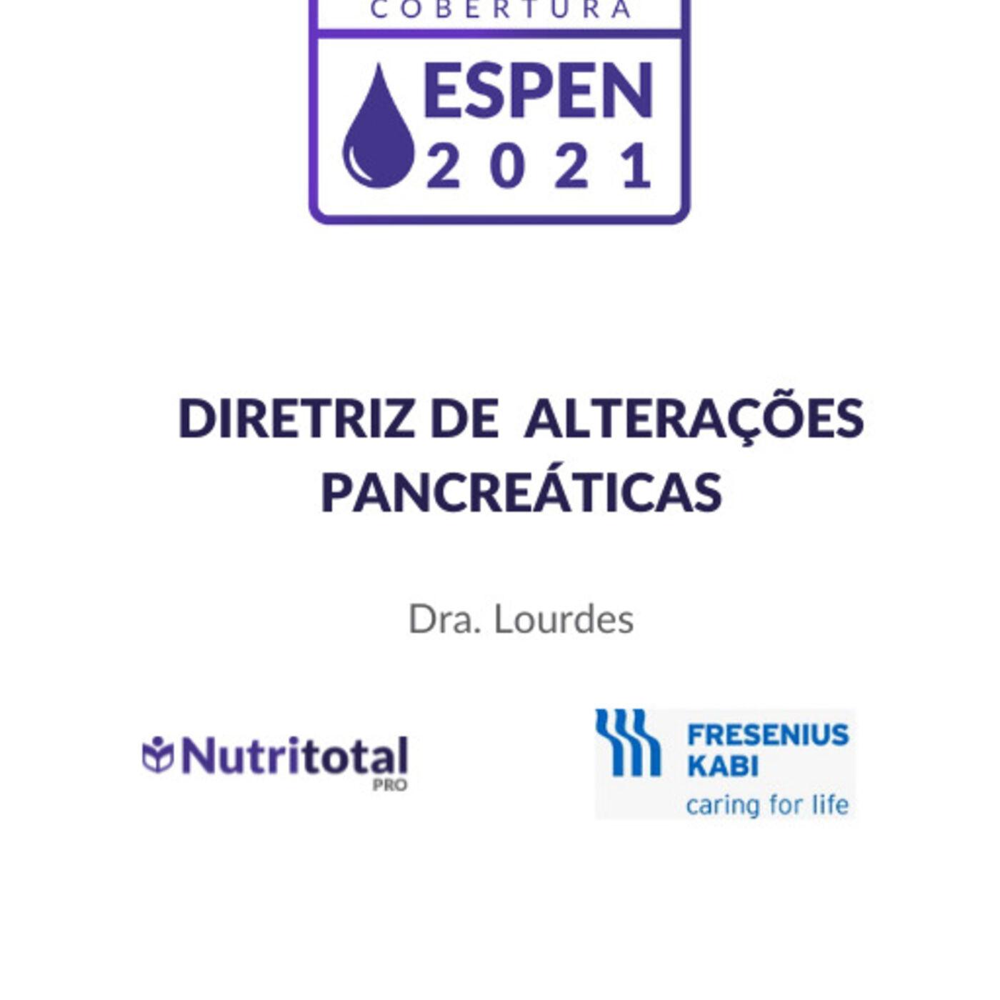 Congresso ESPEN 2021: Diretriz de alterações pancreáticas