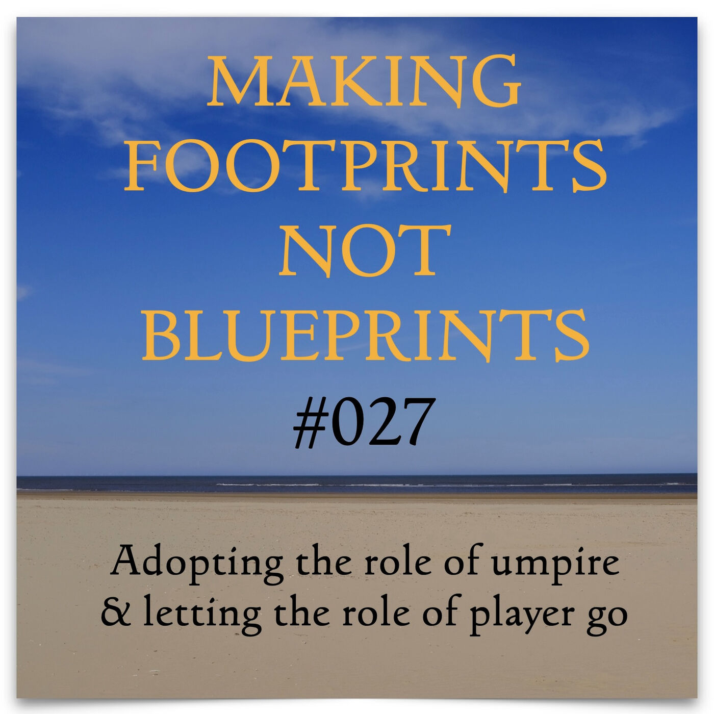 S01 #27 - Adopting the role of umpire and letting the role of player go (End of Series One)