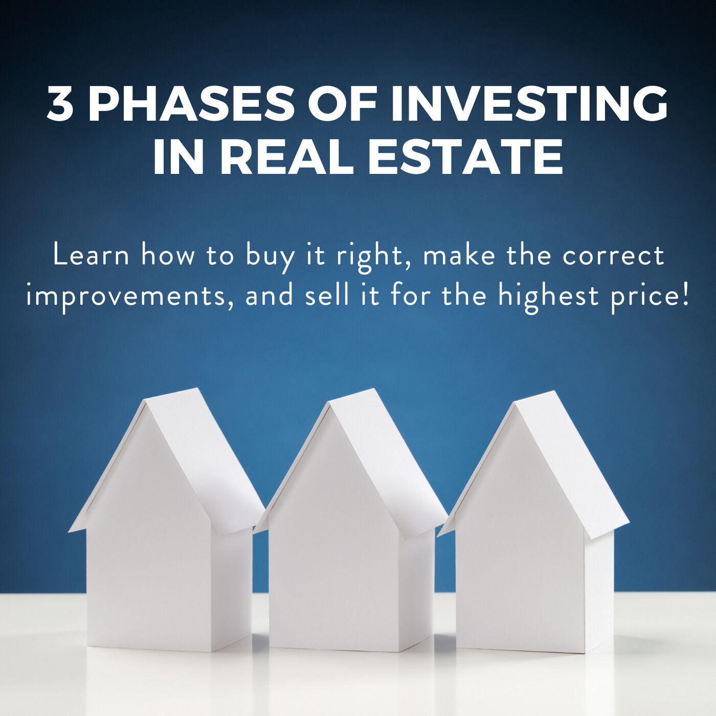 Three Phases of Investing in Real Estate