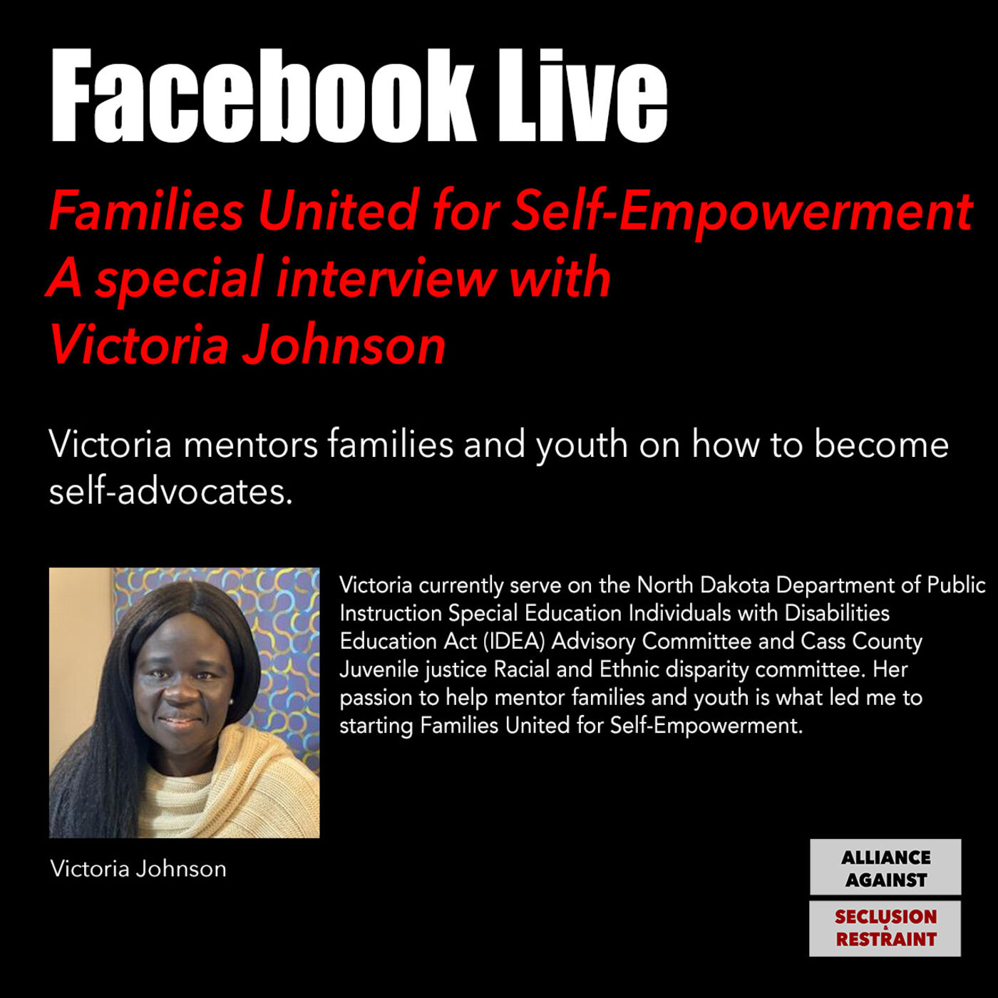 Families United for Self-Empowerment: A special interview with Victoria Johnson